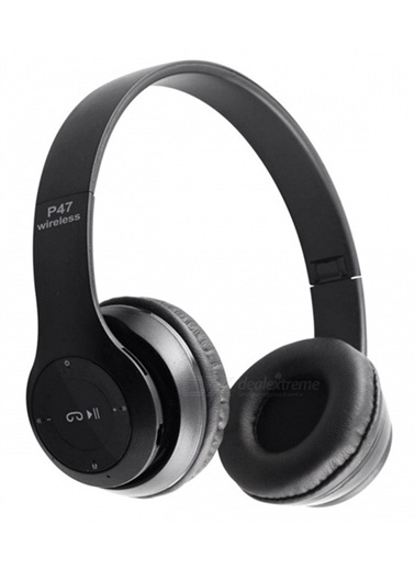 MobilCadde Eiroo P47 Bluetooth Kulaküstü Siyah Kulaklık Siyah